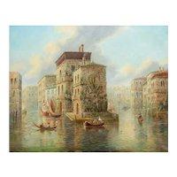 Venetian Capriccio Landscape Painting by James Salt (English, 1850-1903)