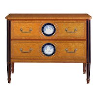 "Theodore Alexander ""Pavlovsk Collection"" Burlwood Chest of Drawers Commode"