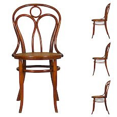 Vintage Austrian Bentwood no. 36 Dining Bistro Chairs by Josef Kohn - Set of 4