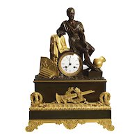 """Horatius & the Fall of Rome"" French Empire Antique Bronze Mantel Clock circa 1820"