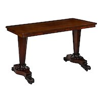 English William IV Period Rosewood Antique Writing Table Console circa 1840