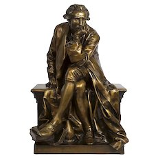 "Bronze Sculpture of ""Antoine Laurent Lavoisier"" by Aime Jules Dalou, cast by Susse"