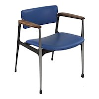 Rare Dan Johnson for Shelby Williams Walnut and Aluminum Arm Chair circa 1960s