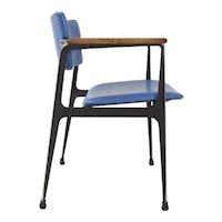 Vintage Dan Johnson for Shelby Williams Aluminum Arm Chair c. 1960s