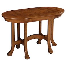 Swedish Grace Antique Inlaid Birch Center Table circa 1920-30