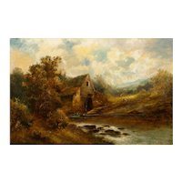 """British School (19th Century) Landscape Painting of """"The Old Mill"""""""