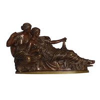 """""""Two Fates"""" German Bronze Sculpture After the Antique cast by R. Bellair"""