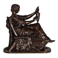 "Circa 1870 ""Etruscan Art"" Bronze Sculpture by Victor Simyan (French, 1826-86)"
