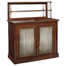 Regency Style Brass-Mounted Rosewood Chiffonier Server Console