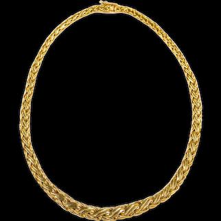 "Tiffany & Co. 18k Yellow Gold Byzantine Woven Necklace, 16 1/4"" long"