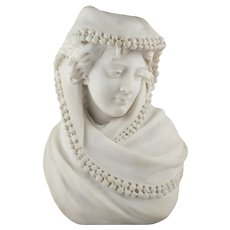 Fine Italian Antique Marble Bust of a Young Woman, circa 19th century
