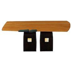Contemporary Artisan Made Modern Coffee Table over Black Legs circa 1997