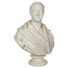 "Antique English ""Bust of a Gentleman"" by Samuel Joseph (British, 1791-1850)"