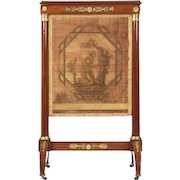Antique French Empire Fire Screen with Bronze Mounts c. 1810