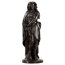 Aime Millet French Bronze Sculpture of Viking Warrior Vercingetorix, Antique c. 1875