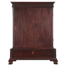 English Chippendale Mahogany Spice Cabinet Miniature Chest c. 1770