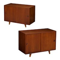 Pair of Danish Mid Century Teak Cabinets Consoles for Illums Bolighus