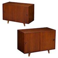Pair of Peter Hvidt Danish Mid Century Modern Cabinets Nightstands