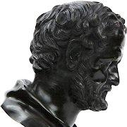 Italian Antique Bronze Sculpture Bust of a Gentleman, 19th Century