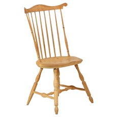 American Benchmade Fanback Windsor Side Chair in Lancaster Style