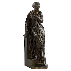 Eugene Aizelin French Bronze Sculpture of Venus, 19th Century