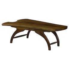 Modern Free Form Live Edge Walnut Coffee Table by Philip Andrews
