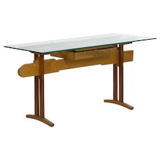 """Bullet Train"" Modern Writing Table Desk by Robert Sorrell circa 1980s"