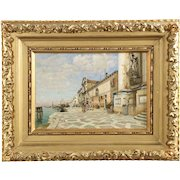 Antique Oil Painting of Venice by William Graham (American, 1841-1910)