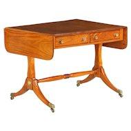 Period Regency Satinwood Antique Sofa Table, England c. 1810