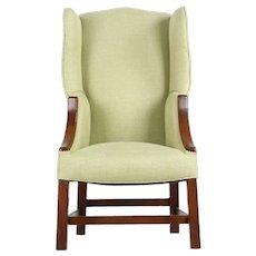 19th Century George III Mahogany Wingback Arm Chair