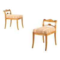 Pair of Biedermeier Style Side Chairs, Early 20th Century