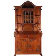 Fine Art Nouveau Display Cabinet Buffet, France c. 1900