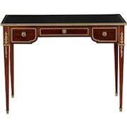 Fine French Louis XVI Style Mahogany Bureau Plat Writing Desk, c. 1900