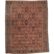 Fine Room Size Heriz Rug Carpet c. 1920
