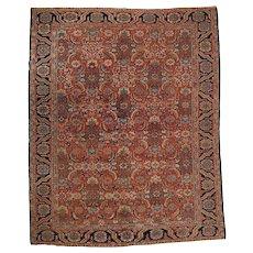 Fine Room Size Heriz Rug Carpet c. 1920