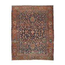 Fine Authentic Antique Room Size Heriz Persian Rug c. 1900