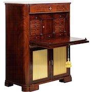 American Mahogany Secrétaire à Abattant Antique Secretary Desk, 19th Century