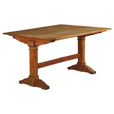 English Arts & Crafts Oak Breakfast Dining Table, 19th century