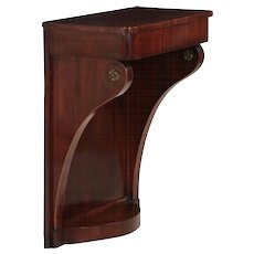 Baltic Neoclassical Mahogany Antique Wall Console Table, 19th century