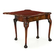 Fine George II Carved Walnut Ball and Claw Card Table, mid 18th century