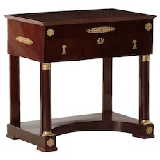 19th Century French Empire Mahogany Console Dressing Table circa 1820