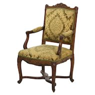 Antique French Louis XV Arm Chair Fauteuil circa 19th century