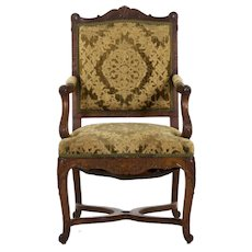 French Rococo Revival Antique Arm Chair, 19th Century