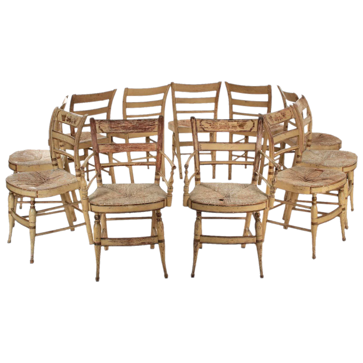 Painted Antique Dining Chairs