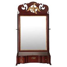 American Chippendale Mahogany Dressing Shaving Mirror, 18th Century