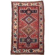 Circa 1900 Antique Caucasian Kazak Area Rug