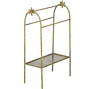 Vintage Gilt Bronze Towel Rack, mid 20th century