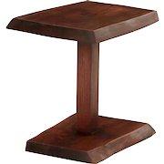 Fine Modern Live-Edge Walnut Side Table by Alan Rockwell circa 1970s
