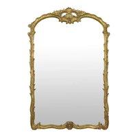 Fine Rococo Carved Giltwood Antique Wall Pier Mirror
