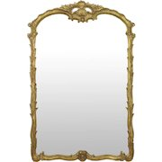 Fine Rococo Carved Giltwood Antique Wall Pier Mirror